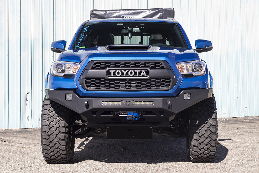 Toyota Tacoma Front Bumper >> Tacoma Front Winch Bumper Strike 3rd Gen 16 Victory 4x4